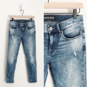 Express Distressed Ankle Jeans Size 4R